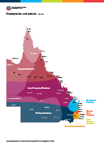Map of Queensland presbyteries and patrols